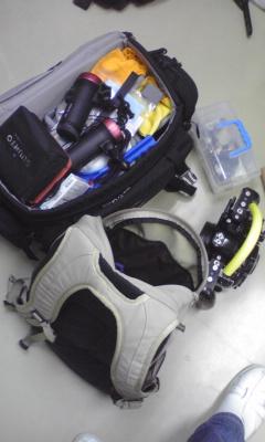 手荷物準備 その1